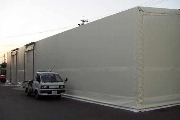 片流れテント倉庫