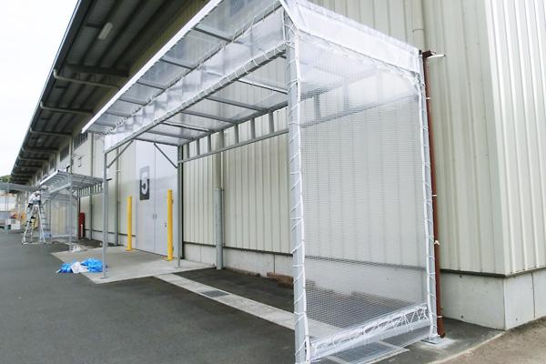 片流れテント 資材置き場専用