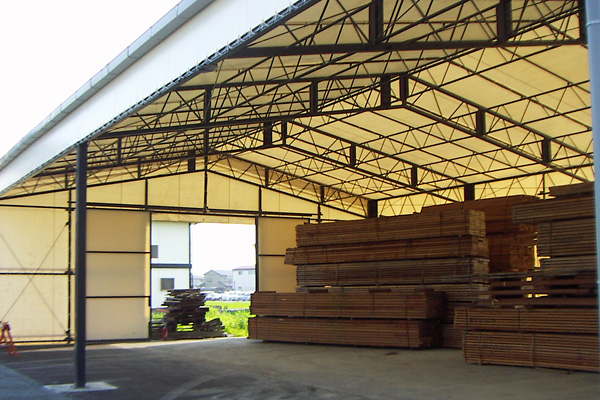 大型テント倉庫 材料置き場専用