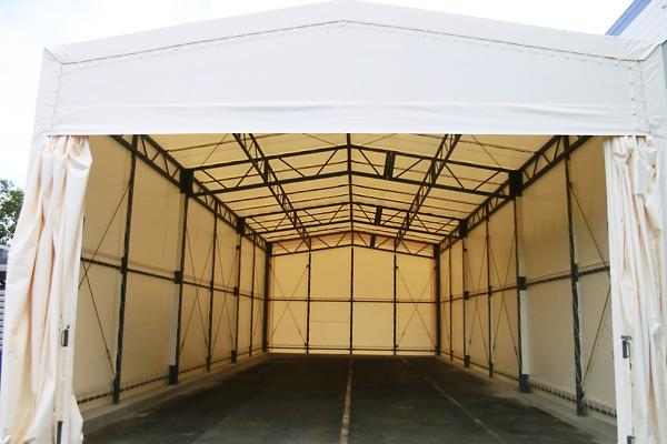 カーテン開閉式テント
